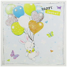 Buy Hammond Gower Bunny & Balloons Greeting Card Online at johnlewis.com