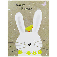 Buy Hammond Gower White Bunny & Chick Greeting Card Online at johnlewis.com
