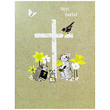 Buy Hammond Gower Cross & Animals Easter Greeting Card Online at johnlewis.com