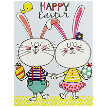 Buy Rachel Ellen Two Bunnies Easter Greeting Cards, Pack of 5 Online at johnlewis.com
