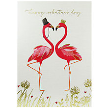 Buy Art File Sara Miller Flamingos Valentine's Day Card Online at johnlewis.com