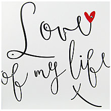 Buy Hammond Gower Big Love Love Of My Life Valentine's Day Card Online at johnlewis.com