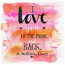 Buy Rachel Ellen Moon And Back Valentine's Day Card Online at johnlewis.com