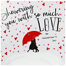Buy Hammond Gower Daydreams Showering You Valentine's Day Card Online at johnlewis.com