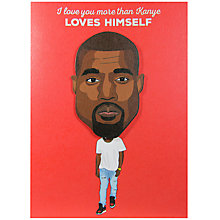 Buy Tache Crafts Kanye West Valentine's Day Card Online at johnlewis.com
