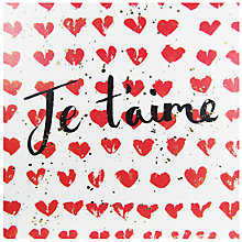 Buy Woodmansterne Je t'aime Valentine's Day Card Online at johnlewis.com