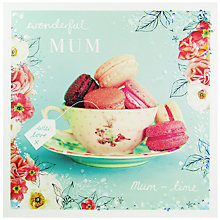 Buy Woodmansterne Teacup And Macaroons Mother's Day Card Online at johnlewis.com