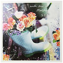 Buy Woodmansterne Wellies And Flower Mother's Day Card Online at johnlewis.com