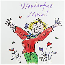 Buy Woodmansterne Lady With Flowers Mother's Day Card Online at johnlewis.com