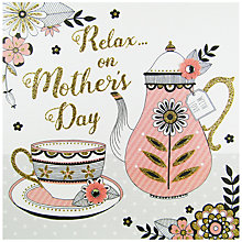 Buy Rachel Ellen Secret Garden Tea Pot Mother's Day Card Online at johnlewis.com
