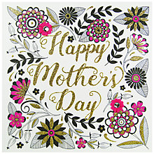 Buy Rachel Ellen Secret Garden Pink Floral Mother's Day Card Online at johnlewis.com