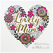 Buy Rachel Ellen Secret Garden Lovely Mum Heart Mother's Day Card Online at johnlewis.com