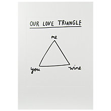 Buy Woodmansterne Love Triangle Valentine's Day Card Online at johnlewis.com