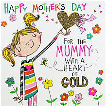 Buy Rachel Ellen Heart Of Gold Mother's Day Card Online at johnlewis.com