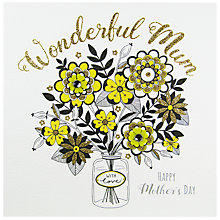 Buy Rachel Ellen Secret Garden Vase Mother's Day Card Online at johnlewis.com