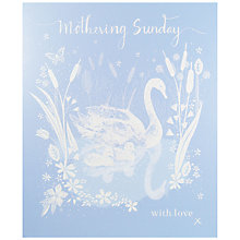 Buy Woodmansterne Silhouette Swan Mother's Day Card Online at johnlewis.com