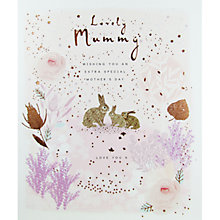 Buy Woodmansterne Mummy & Baby Bunnies Mother's Day Card Online at johnlewis.com