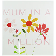 Buy Caroline Gardner Mum In A Million Mother's Day Card Online at johnlewis.com