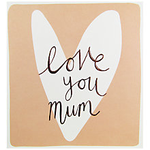 Buy Caroline Gardner Mum Heart Mother's Day Card Online at johnlewis.com