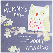 Buy Cardmix Amazing Owls Mother's Day Card Online at johnlewis.com