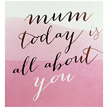 Buy Caroline Gardner All About You Mother's Day Card Online at johnlewis.com