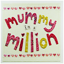 Buy Blue Eyed Sun Mummy In A Million Mother's Day Card Online at johnlewis.com