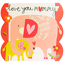 Buy Caroline Gardner Mummy Elephant Mother's Day Card Online at johnlewis.com