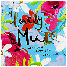 Buy Hammond Gower Gold Blue Floral Mother's Day Card Online at johnlewis.com