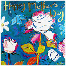 Buy Hammond Gower Flowers Teal Mother's Day Card Online at johnlewis.com