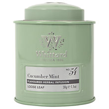 Buy Whittard Cucumber Mint Loose Leaf Tea & Caddy, 30g Online at johnlewis.com