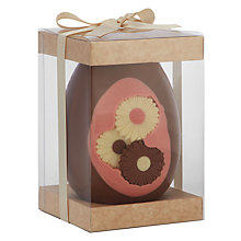 Buy The Cocoabean Company Flower Inclusion Milk Chocolate Easter Egg, 350g Online at johnlewis.com