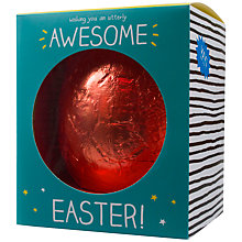 Buy Happy Jackson 'Awesome' Milk Chocolate Easter Egg, 400g Online at johnlewis.com