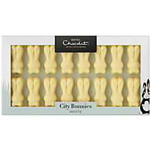 Buy Hotel Chocolat White Chocolate City Bunnies, 87g Online at johnlewis.com