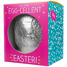 Buy Happy Jackson 'Egg-cellent' Large Easter Egg, 400g Online at johnlewis.com