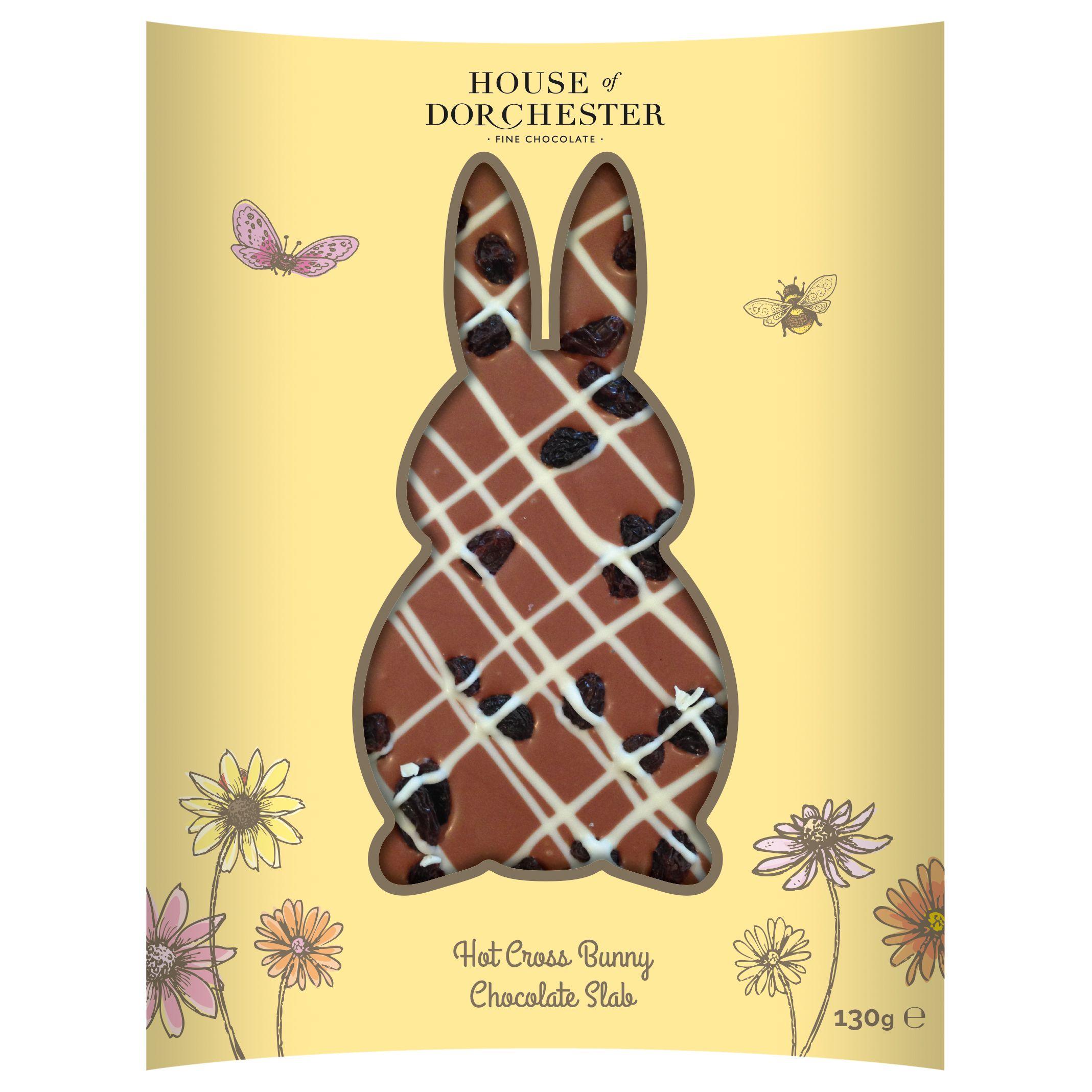 House of Dorchester House of Dorchester Hot Cross Bunny Milk Chocolate Slab, 130g
