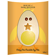 Buy House of Dorchester 'Chirpy Chic Chocolate Egg Slab', 130g Online at johnlewis.com
