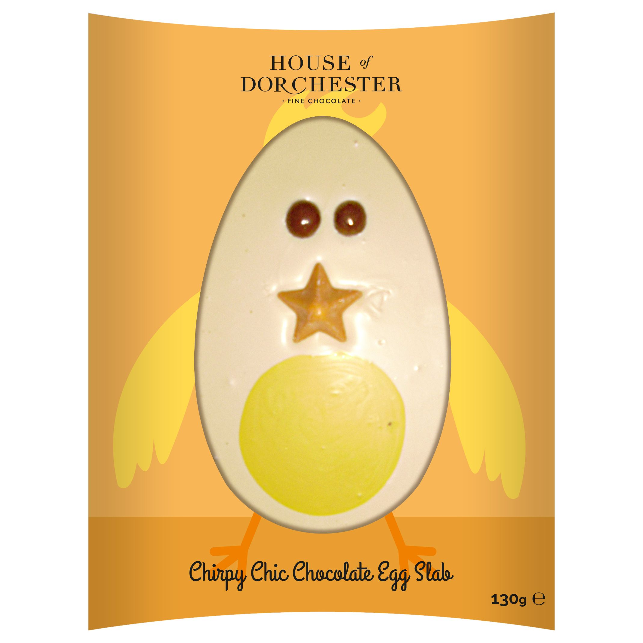 House of Dorchester House of Dorchester 'Chirpy Chic Chocolate Egg Slab', 130g