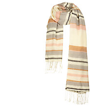 Buy Fat Face Alice Stripe Scarf, Ecru/Multi Online at johnlewis.com
