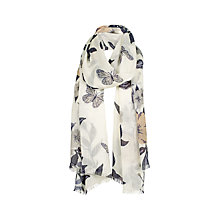 Buy Fat Face Butterfly Floral Scarf, Ecru/Multi Online at johnlewis.com