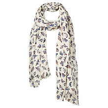Buy Fat Face Painterly Butterfly Print Scarf, Natural/Multi Online at johnlewis.com