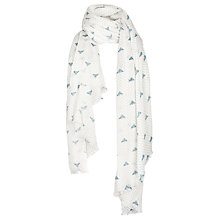 Buy Fat Face Bee and Spot Scarf, Ecru/Cornflower Online at johnlewis.com