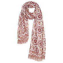 Buy Fat Face Floral Geo Tile Print Scarf, Cherry Blossom/Multi Online at johnlewis.com