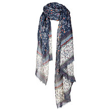 Buy Fat Face Ditsy Floral Scarf, Navy/Multi Online at johnlewis.com