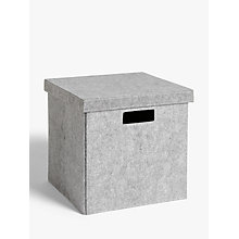 Buy House by John Lewis Grey Felt Storage Box, Large Online at johnlewis.com