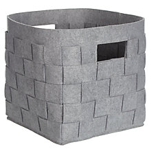 Buy House by John Lewis Woven Felt Storage Box Online at johnlewis.com