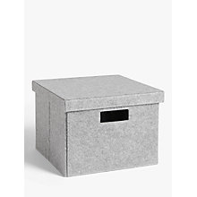 Buy House by John Lewis Grey Felt Storage Box, Medium Online at johnlewis.com