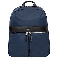 "Buy Knomo Beauchamp Backpack for Laptops up to 14"", Navy Online at johnlewis.com"