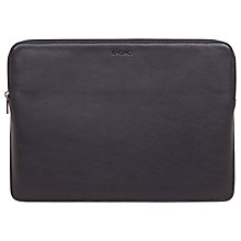 "Buy Knomo Barbican Leather Sleeve for 13"" Laptops, Black Online at johnlewis.com"