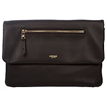 "Buy Knomo Elektronista Leather Digital Clutch Bag for Tablets up to 10"", Black Online at johnlewis.com"