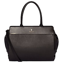 Buy Modalu Berkeley Leather Grab Bag, Black Online at johnlewis.com